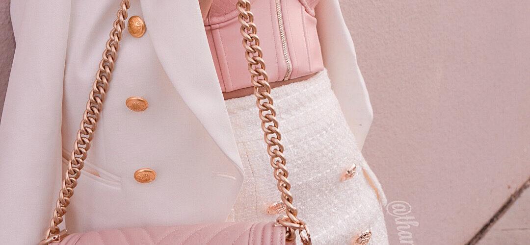 Legally Brunette – pink & tweed ootd